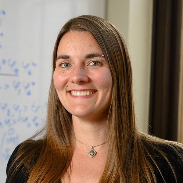 A portrait of Professor Emily King.
